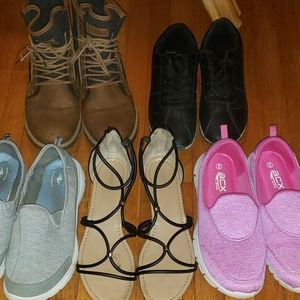 Shoes - 5 Pairs of Footwear Size 8-8.5